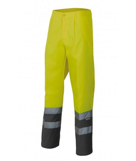 Pantalón Bicolor alta visibilidad Amarillo Fluor-Gris