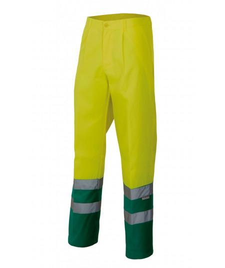 Pantalón Bicolor alta visibilidad Amarillo Fluor-Verde