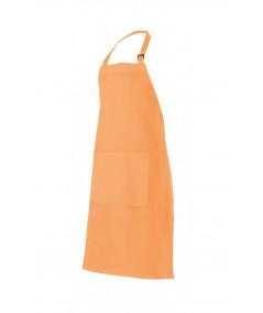 Delantal Peto Hebilla Naranja Claro