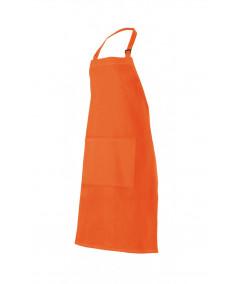Delantal Peto Hebilla Naranja Fluor