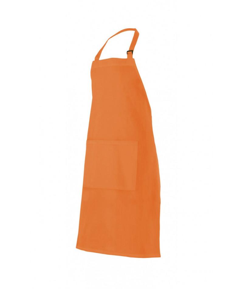 Delantal Peto Hebilla Naranja