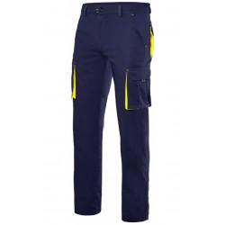 Pantalón stretch bicolor multibolsillos
