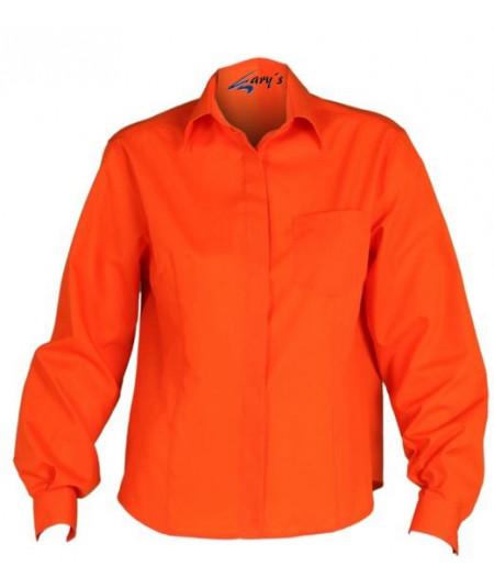 Camisa Mujer Clásica Naranja
