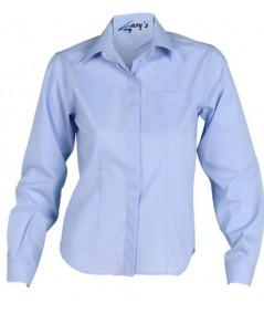 Camisa Mujer Clásica Celeste
