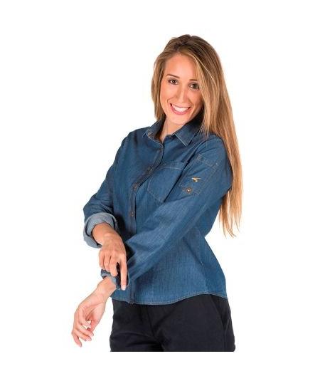Camisa Mujer M.L. Tejano Lavado Fino