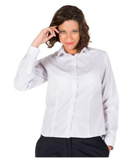 Camisa Mujer Blanco Punteado