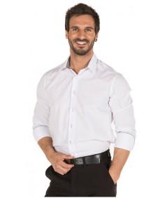 Camisa Contraste Blanco-Gris