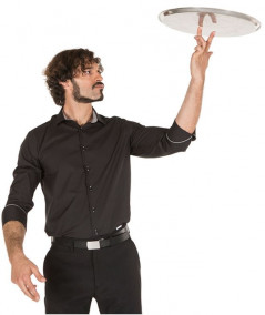 Camisa Contraste Negro-Gris