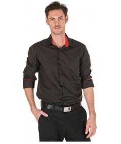 Camisa Contraste Negro-Rojo