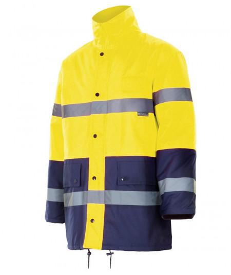 Parka bicolor alta visibilidad_amarillo